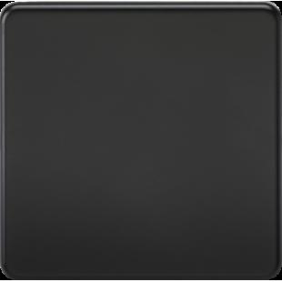 Screwless 1G Blanking Plate - Matt Black