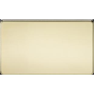 Screwless 2G Blanking Plate - Polished Brass
