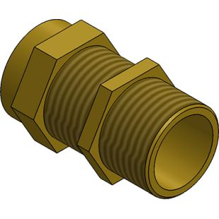 25mm Brass TRS Stuffing Gland