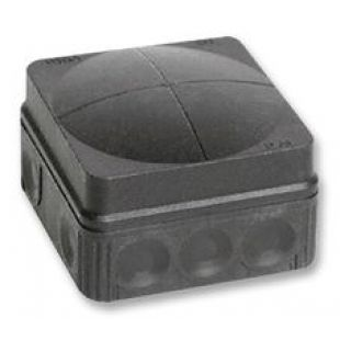 Wiska IP66 Junction Box Combi 108/5 Black 76mm x 76mm x 51mm 24 Amp