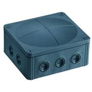 Wiska IP66 Junction Box Combi 1210/5 Black 160mm x 140mm x 81mm 57 Amp