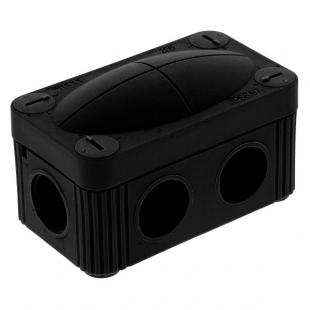 Wiska COMBI 206 Junction Box Black 85mm x 49mm x 51mm
