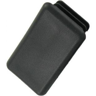 41mm x 21mm Channel End Cap Black