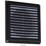 "150mm 6"" Extractor Fan Grille With Fly Screen - Black"