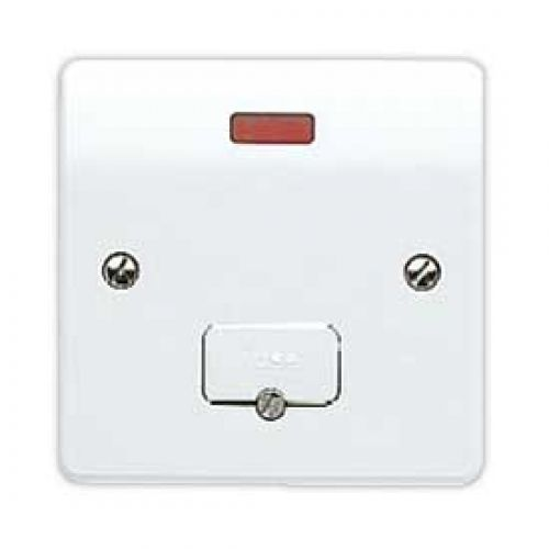 2 X MK Fused Spur K337WHI Unswitched With Flex Outlet Connection Unit