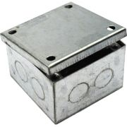 75mm x 75mm x 50mm Galvanised Adaptable Box With Knockouts