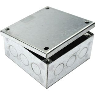 100mm x 100mm x 50mm Galvanised Adaptable Box With Knockouts