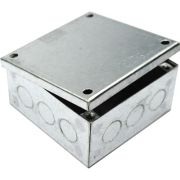 100mm x 100mm x 100mm Galvanised Adaptable Box With Knockouts