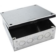 150mm x 150mm x 75mm Galvanised Adaptable Box With Knockouts