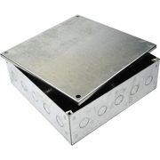 225mm x 225mm x 75mm Galvanised Adaptable Box With Knockouts