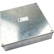 300mm x 300mm x 75mm Galvanised Adaptable Box With Knockouts
