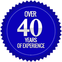Over 40 years experience in the business